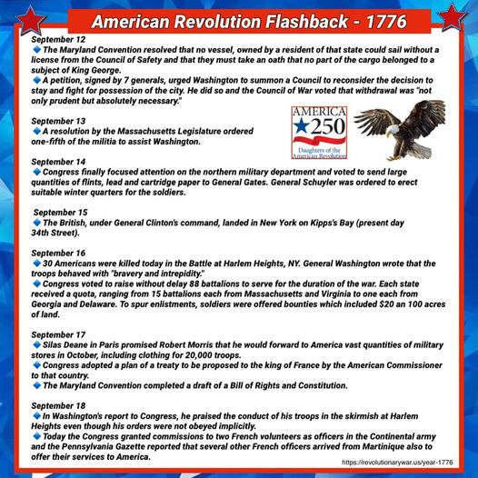 This week in the history of the American Revolution - September 12-18, 1787 courtesy of the Daughters of the American Revolution